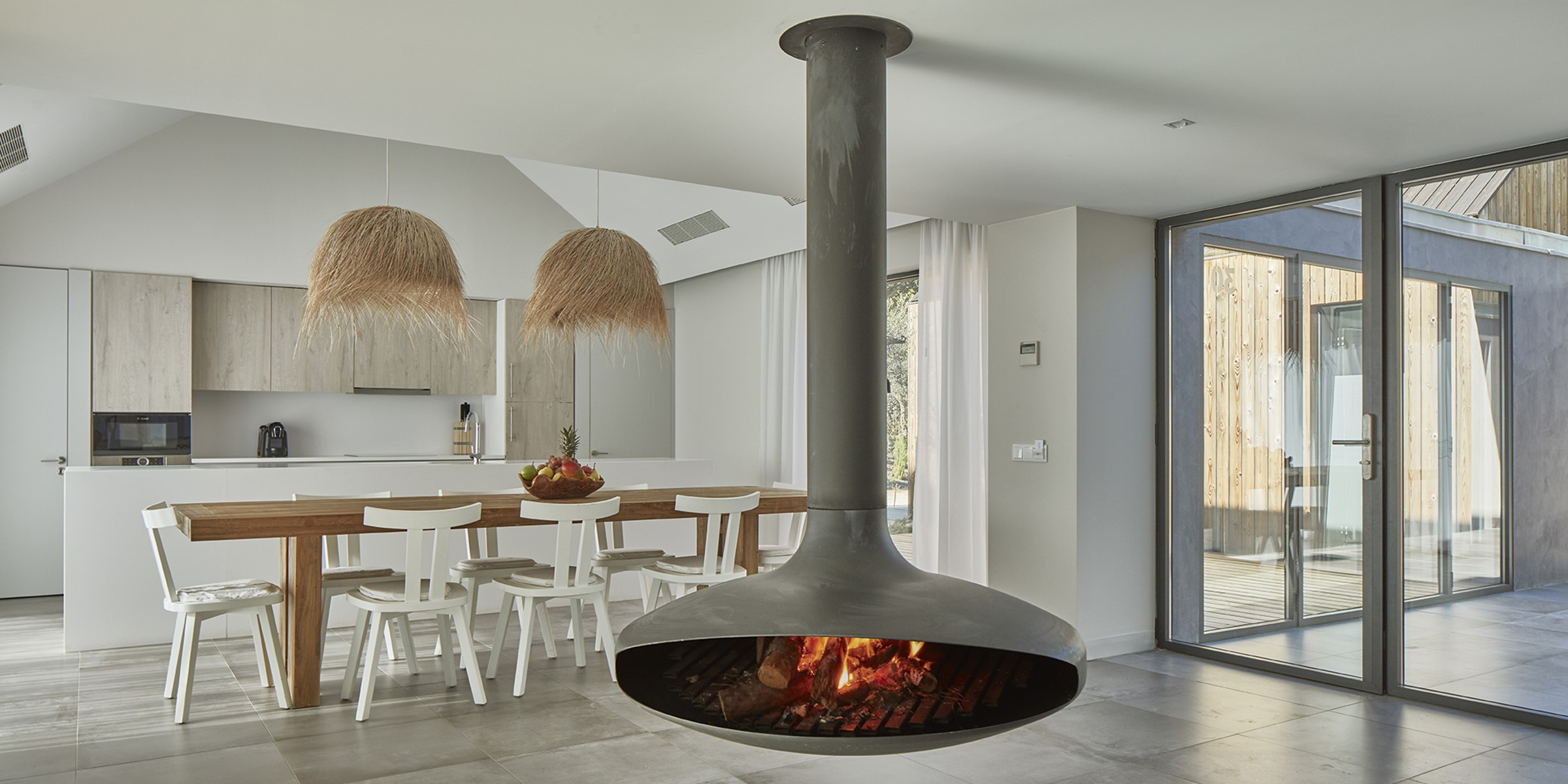 Villa Sublime Comporta Living Room With Fire Comporta 0143 LR